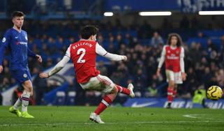 Arsenal captain Hector Bellerin scored a late equaliser against Chelsea at Stamford Bridge
