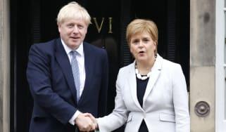 Boris Johnson Nicola Sturgeon