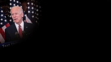 Joe Biden speaking in Philadelphia