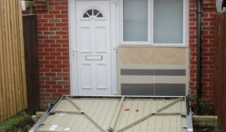 Fake garage door