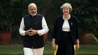 Theresa May and Indian Prime Minister Narendra Modi