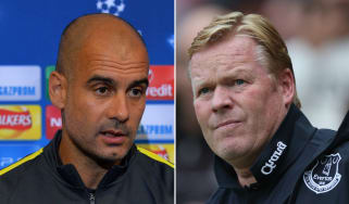 Pep Guardiola and Ronald Koeman