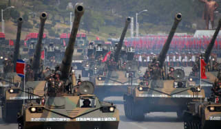 The Korean People's Army military parade in Pyongyang, April 2017
