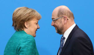 Two heads are better than one: Chancellor Angela Merkel and SPD leader Martin Schulz