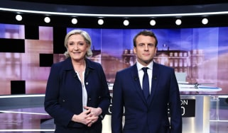 Marine Le Pen and Emmanuel Macron debate