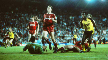 Michael Thomas scored a dramatic late goal as Arsenal won the title in 1989