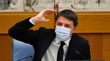 Matteo Renzi holds a press conference
