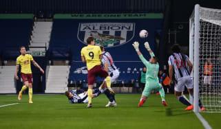 West Bromwich Albion drew 0-0 with Burnley in a Premier League pay-per-view match