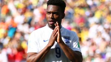 Daniel Sturridge of England reacts