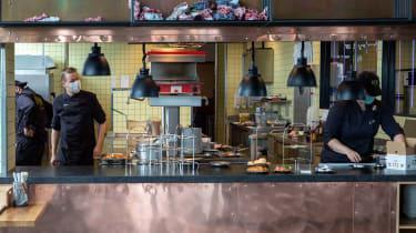 A Berlin restaurant reopens after the coronavirus lockdown