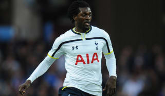Spurs striker Emmanuel Adebayor