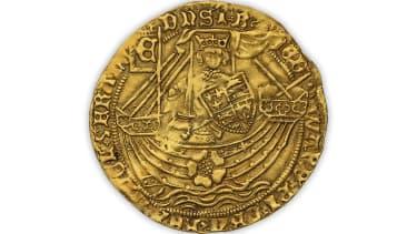 Gold Henry IV ryal