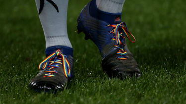 Rugby players are wearing rainbow laces in support of Stonewall's campaign for LGBT equality