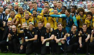 World Cup Belgium 2 England 0