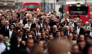 A crowded London street.