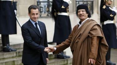 Sarkozy and Gaddafi