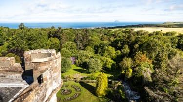Glenapp Castle rooftop view