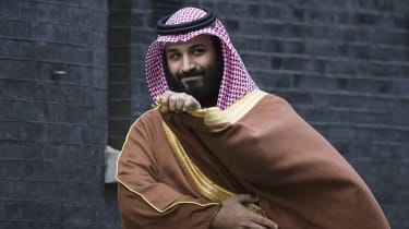 Mohammed bin Salman on a visit to 10 Downing Street