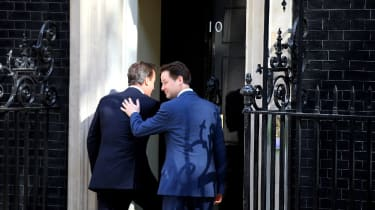 Clegg and Cameron outside 10 Downing Street in 2010