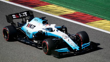 Canadian Nicholas Latifi drives for Williams during FP1 at the 2019 Belgian Grand Prix