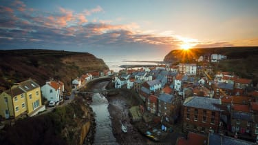 The village of Staithes, North Yorkshire