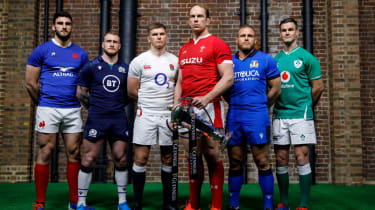 The Six Nations captains line up ahead of the 2020 championship