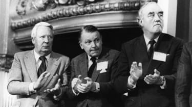 Edward Heath, Francis Pym, and William Whitelaw in 1981