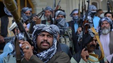 An Afghan militia member