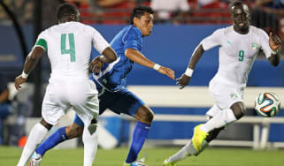 Ivory Coast players during the International friendly match with El Salvador