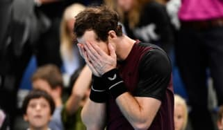 Andy Murray celebrates his victory at the European Open ATP Tour event in Antwerp