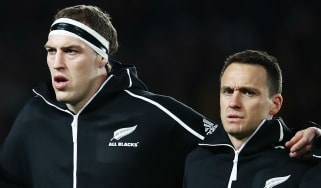 Brodie Retallick and Ben Smith joined the fans at Twickenham to watch the England vs. South Africa match