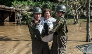 Japanese soldiers have been called in to assist rescue efforts