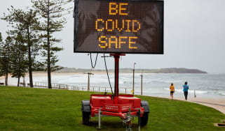 Covid warning in Australia