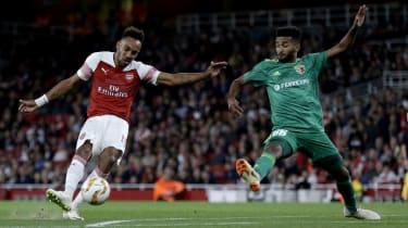 Pierre-Emerick Aubameyang Arsenal 4 Vorskla Poltava 2 Europa League