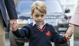 Prince George on his first day at St Thomas' school in London