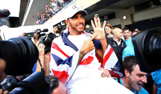 Mercedes driver Lewis Hamilton won his fifth Formula 1 world title in 2018