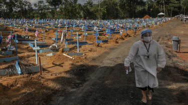 The Parque Taruma Cemetery in Manaus, Brazil