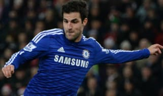 Cesc Fabregas scores for Chelsea int match against Stoke City