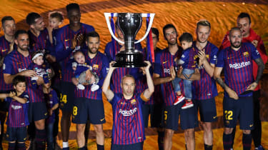 Andres Iniesta Barcelona final match Real Sociedad La Liga trophy