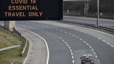 The M8 motorway in Glasgow during the first coronavirus lockdown