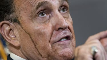 Rudy Giuliani speaks to the press about various lawsuits related to the 2020 election.