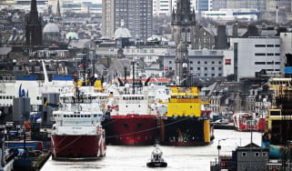 Ships in harbour at Aberdeen