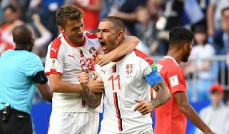 Serbia vs. Switzerland World Cup group E Aleksandar Kolarov