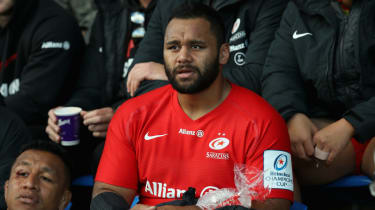 Saracens and England No.8 Billy Vunipola broke his left arm against the Glasgow Warriors