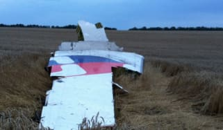 Wreckage from Malaysian airlines Flight MH17