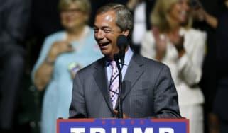 Nigel Farage at Trump campaign rally