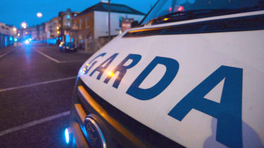 Garda vehicle in Dublin