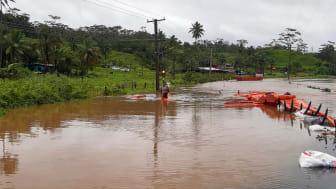 Cyclone damage in Fiji