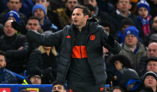Chelsea boss Frank Lampard reacts during the 3-0 Champions League defeat against Bayern Munich