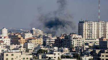 Smoke billows from Gaza City following Israeli military shelling